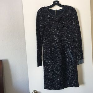 Speckled Black Knit Dress by THML